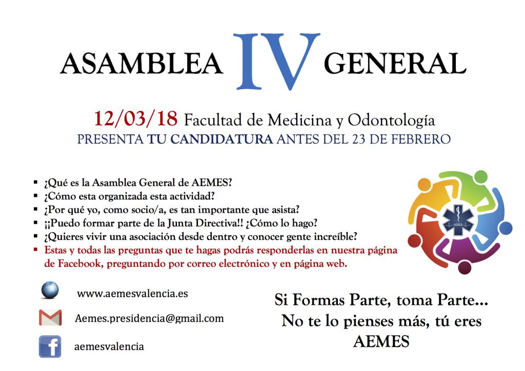 IV ASAMBLEA AEMES